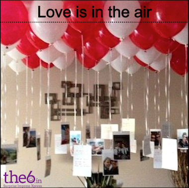 Wouldnu0027t It Be Romantic When Your Beloved Enters The Room, 100 Gas Ballons  Flying Up In The Air U0026 Few Pics Tied At The End Of The Thread?